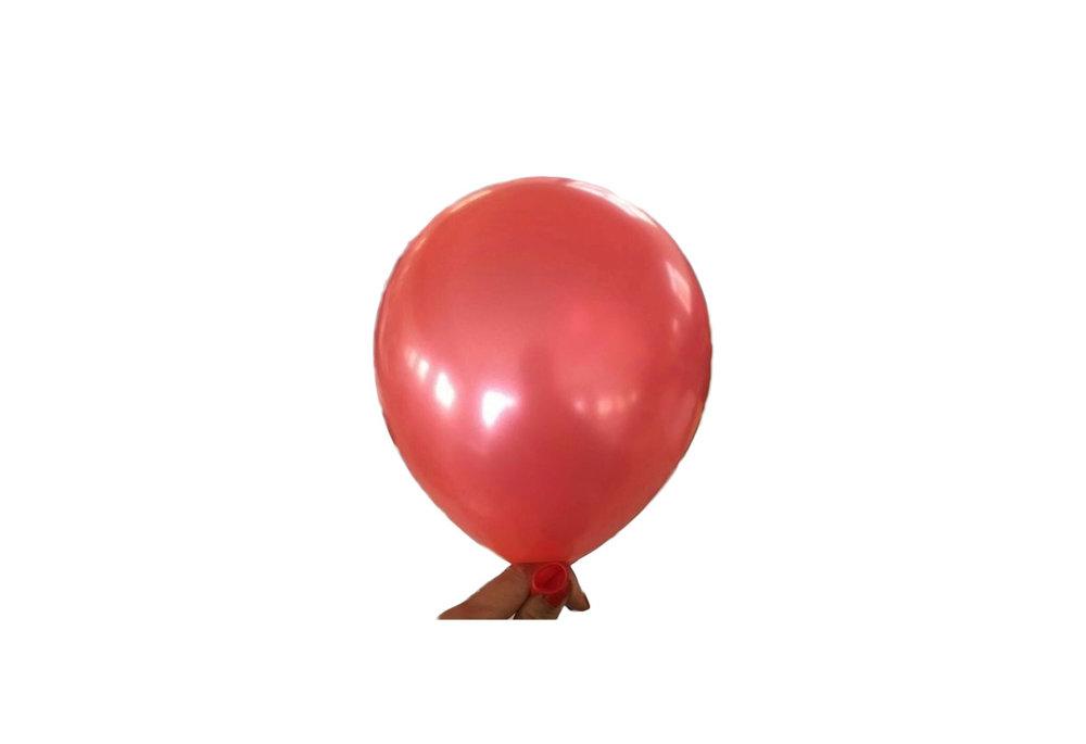 10 stuks - Rode parelmoer metallic ballon 30 cm hoge kwaliteit