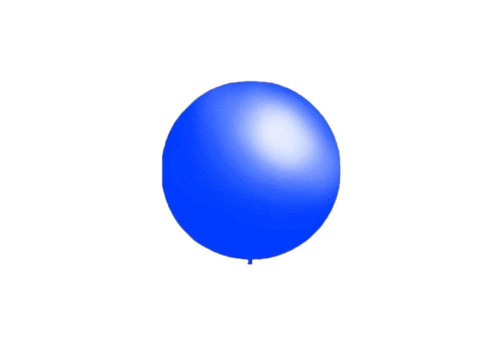 50 stuks - Decoratieballonnen midden blauw 28 cm professionele kwaliteit