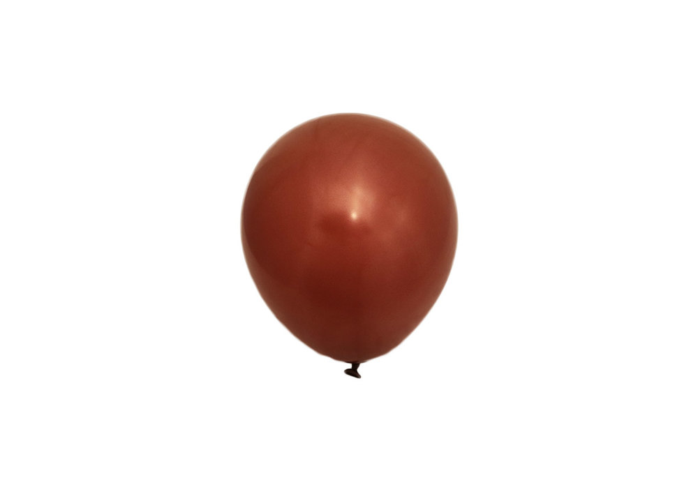 100 stuks - Roest bruine parelmoer metallic ballon 30 cm hoge kwaliteit