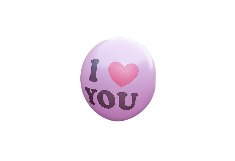 100 stuks - Roze ballon i love you 30 cm hoge kwaliteit