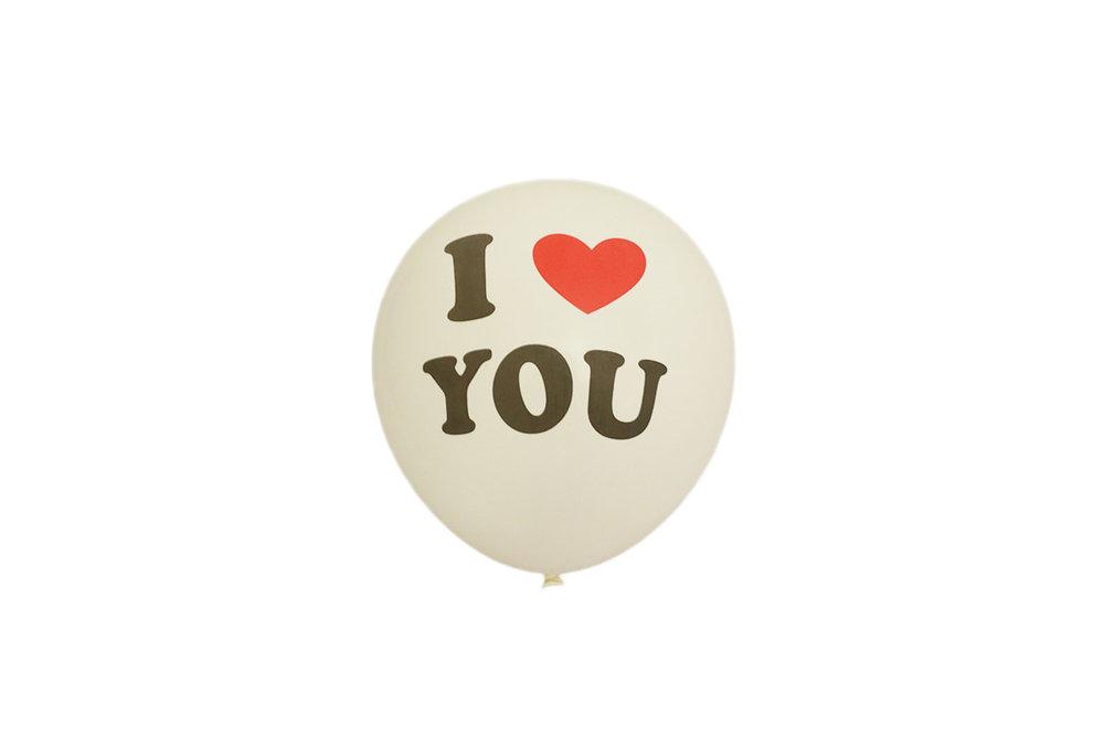 25 stuks - Witte ballon i love you 30 cm hoge kwaliteit