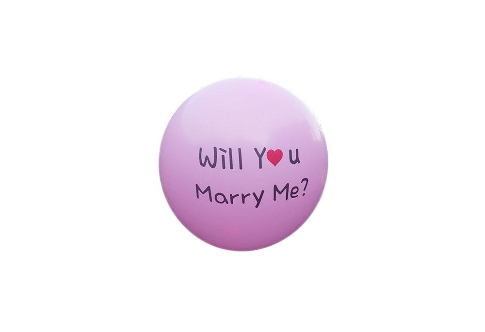 10 stuks - Roze ballon will you marry me you 30 cm hoge kwaliteit