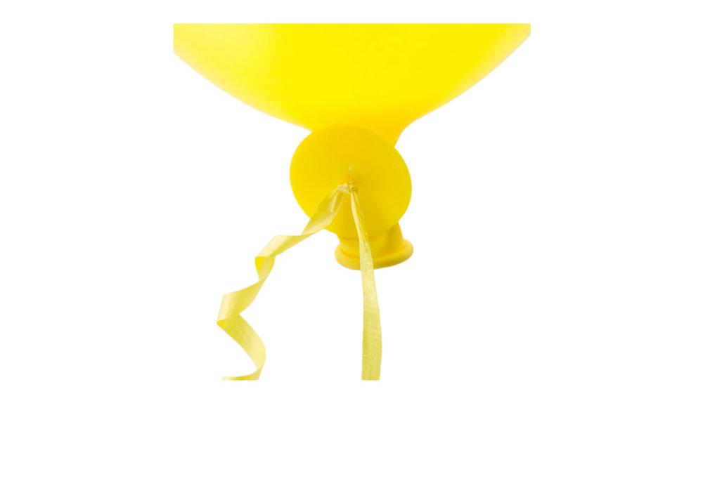 10 stuks snel sluiter ballonnen met geel lint