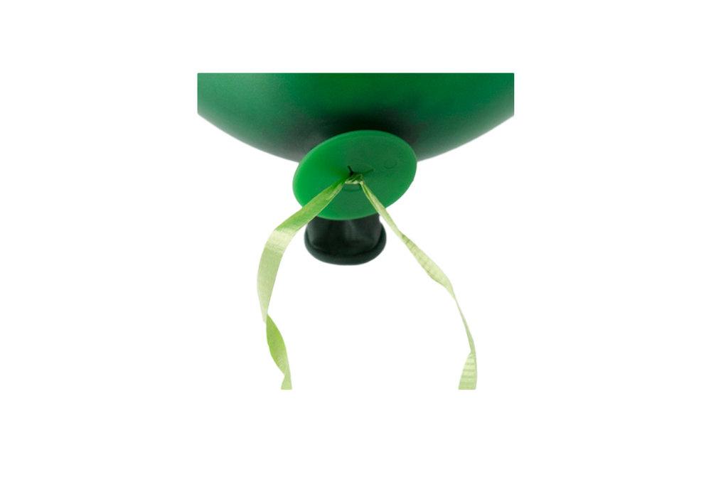 10 stuks snel sluiter ballonnen met groen lint