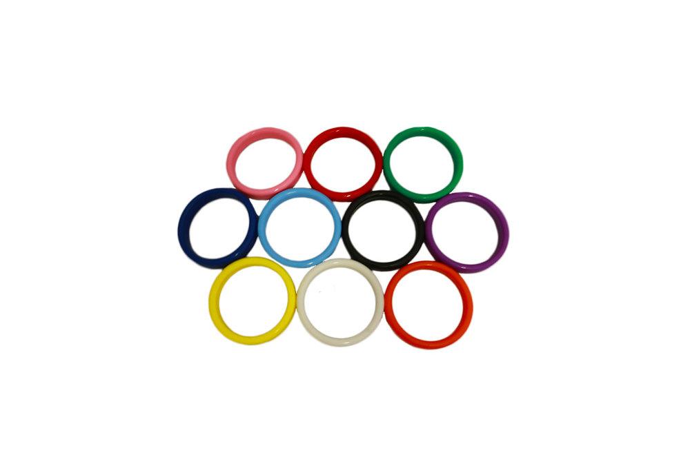 Ballon gewicht in de vorm van een ring verschillende kleuren per 10 stuks
