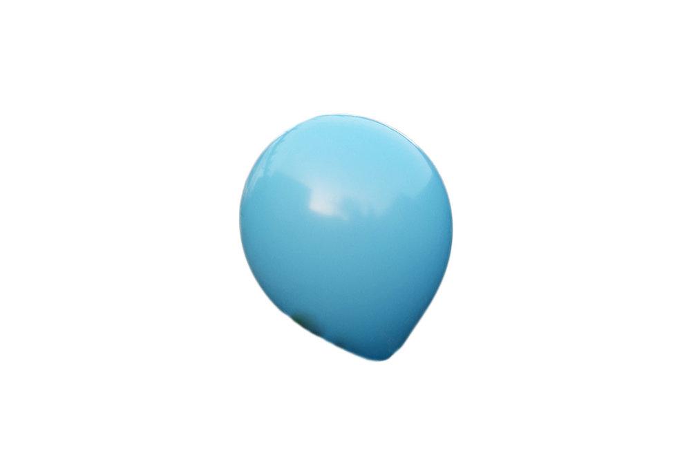 3 stuks Mega grote baby blauwe ballonnen 90 cm