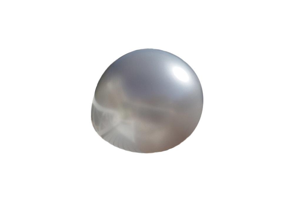 3 stuks Mega grote zilveren ballonnen 90 cm