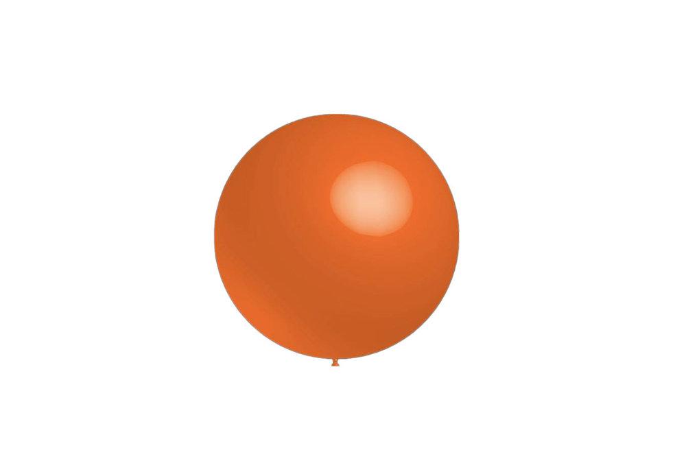 Mega grote ronde festivalballonnen oranje 130 cm professionele kwaliteit