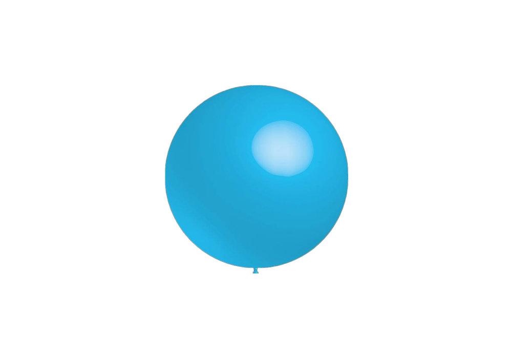 Mega grote ronde festivalballonnen licht blauw 130 cm professionele kwaliteit