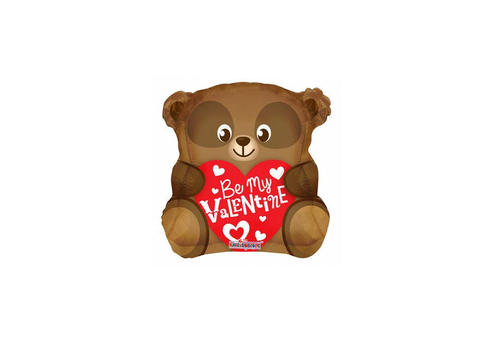 Folie ballon Be Mij Valentine 46 cm groot met een beer