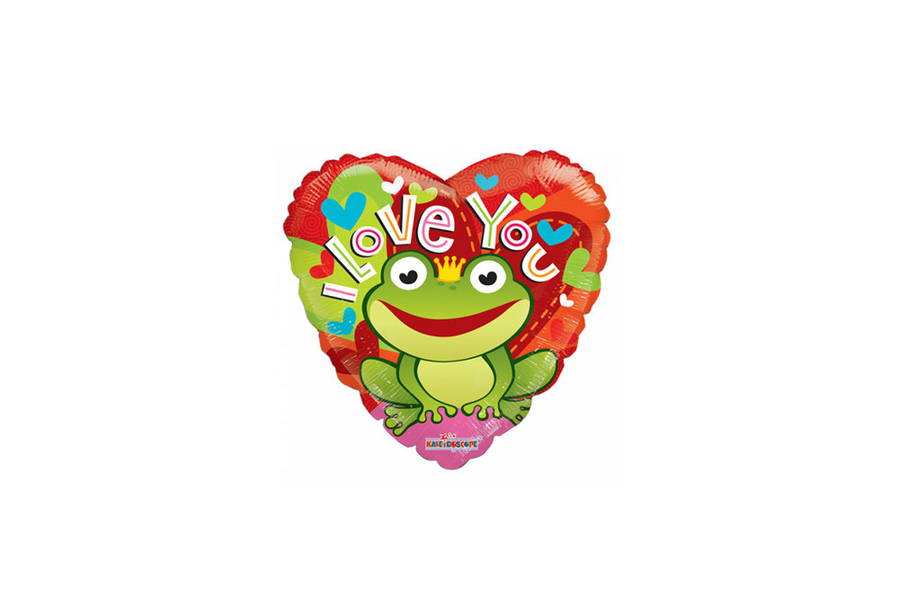 Folie ballon I Love You rond 46 cm groot