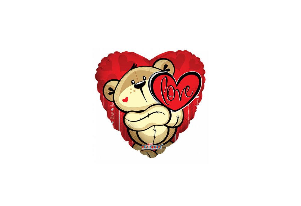 Folie ballon Love hart 46 cm groot