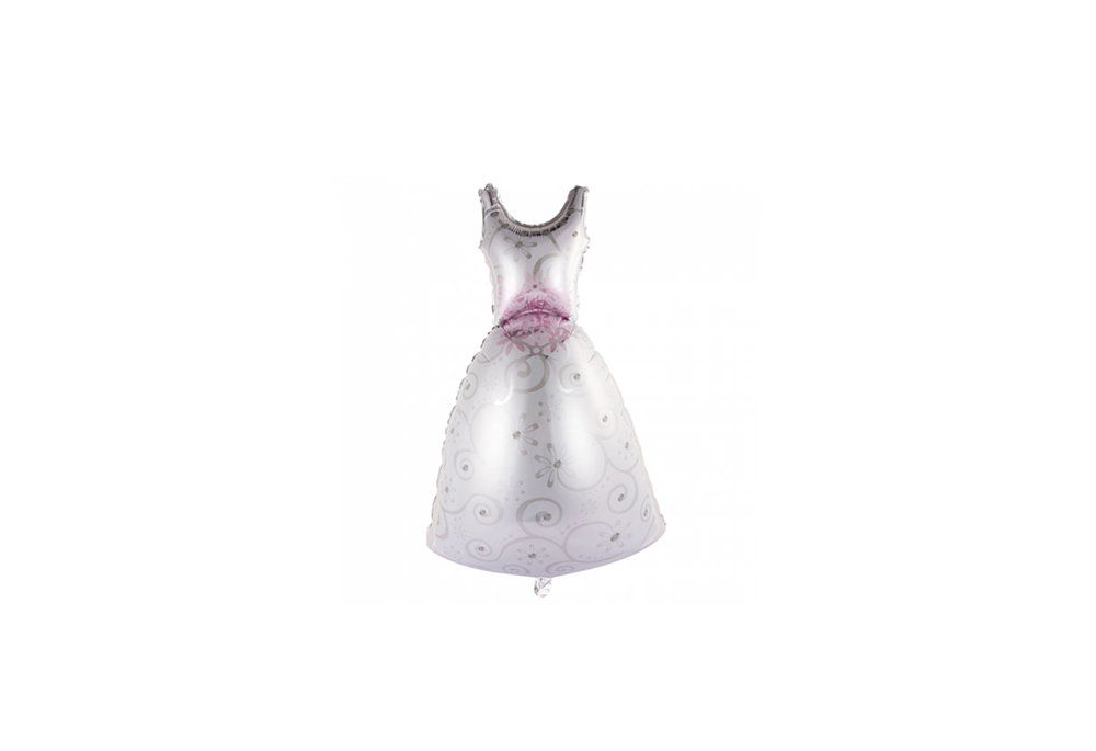 Folie ballon trouwjurk bruid 118 cm groot