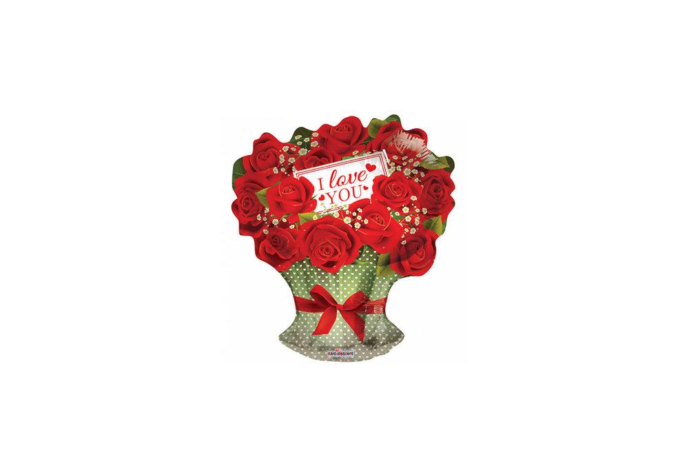 Grote ballon doorsnee 46 cm i love you rozen