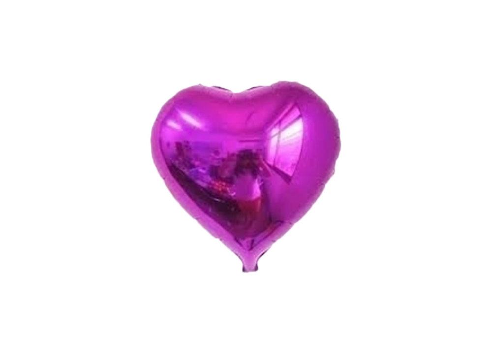 75 cm lichter paars hartvormige folie ballon van hoge kwaliteit