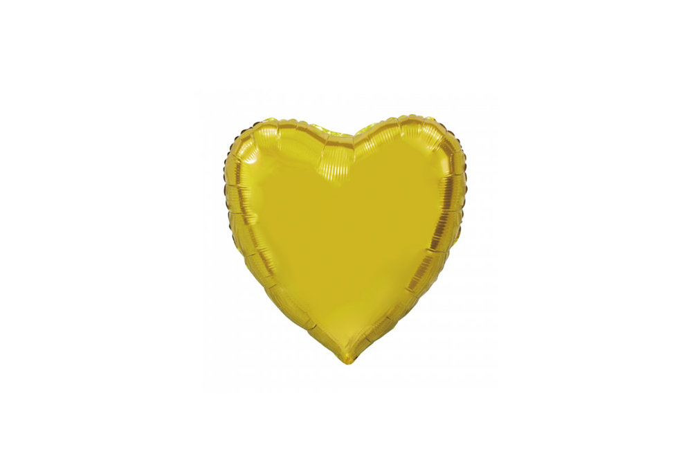 Folie ballon hart vorm goud 92 cm groot