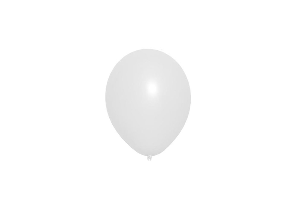 Witte latex ballon 30 cm hoge kwaliteit