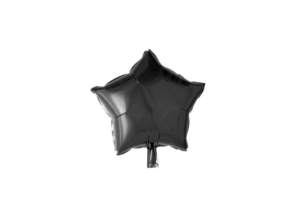 Grote ballon doorsnee 46 cm ster zwart leuk voor helloween