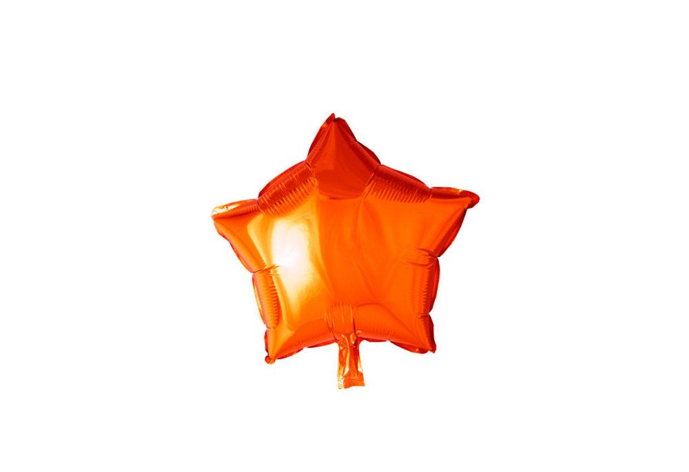 Grote ballon doorsnee 46 cm ster oranje leuk voor helloween