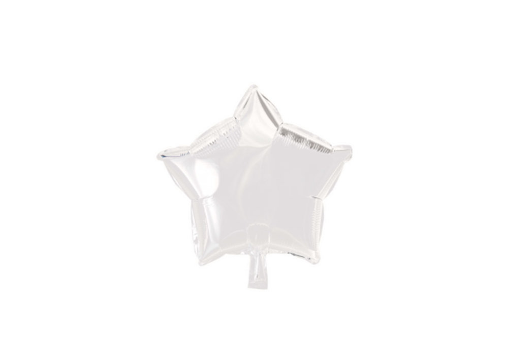 Grote ballon doorsnee 46 cm ster wit