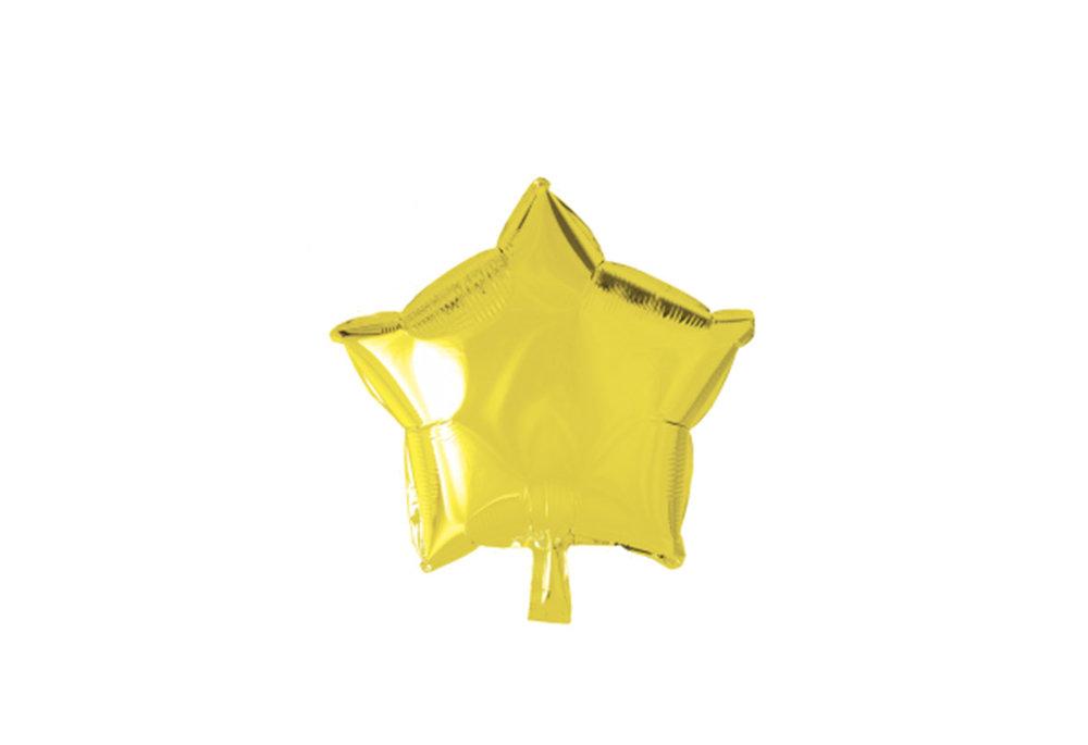 Grote ballon doorsnee 46 cm ster geel