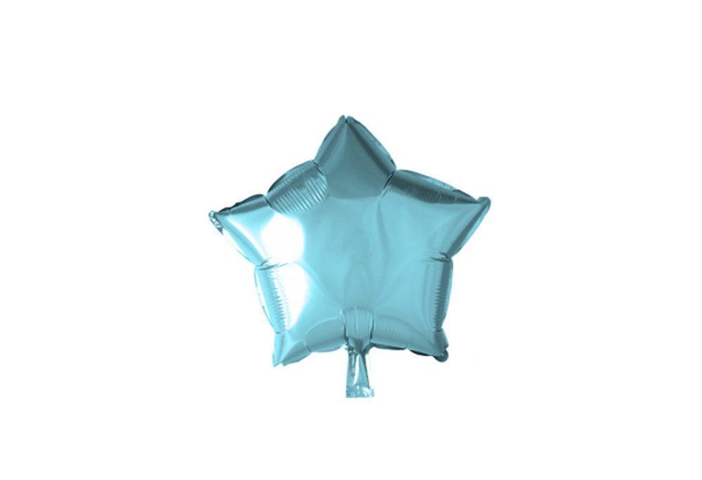 Grote ballon doorsnee 46 cm ster licht blauw