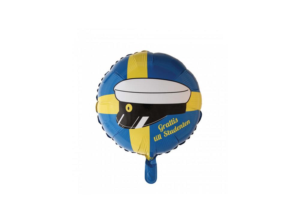 Folie ballon Grattis till Studenten 46 cm doorsnee