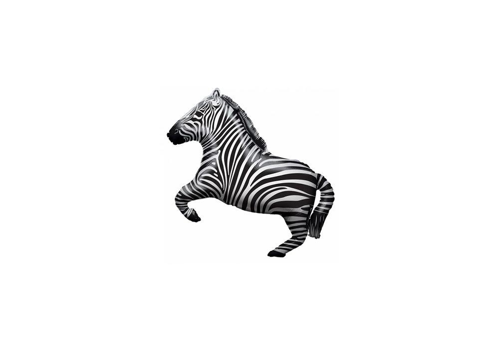 Folie ballon als zebra 71 cm groot