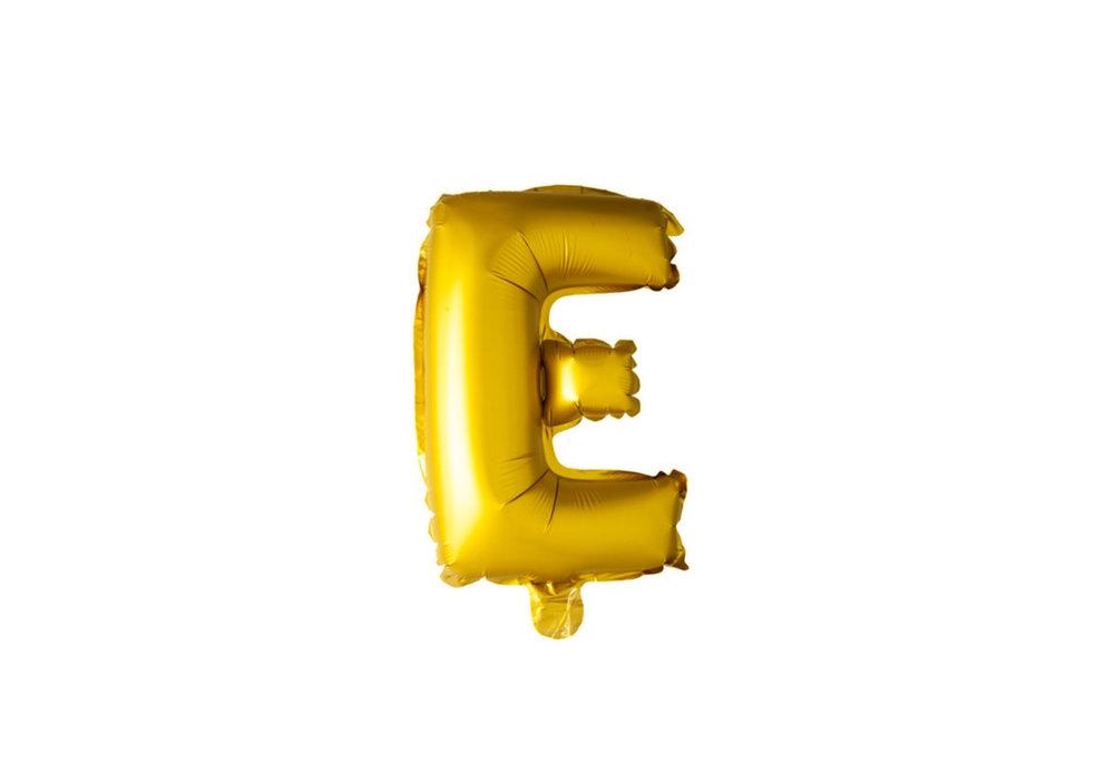 ballon - 100 cm - goud - letter - E