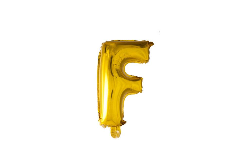 ballon - 100 cm - goud - letter - F