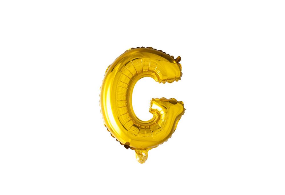 ballon - 100 cm - goud - letter - G