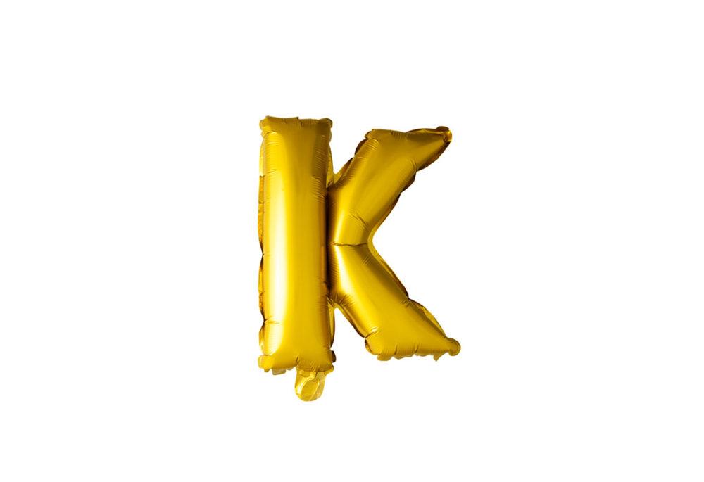 ballon - 100 cm - goud - letter - K