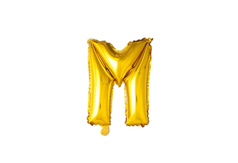 ballon - 100 cm - goud - letter - M