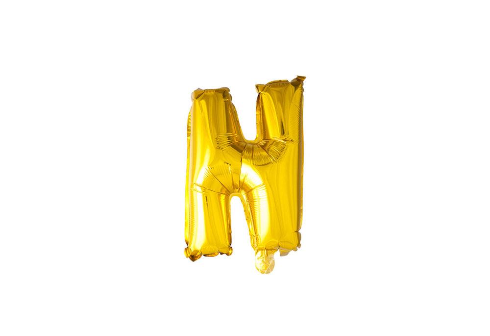 ballon - 100 cm - goud - letter - N
