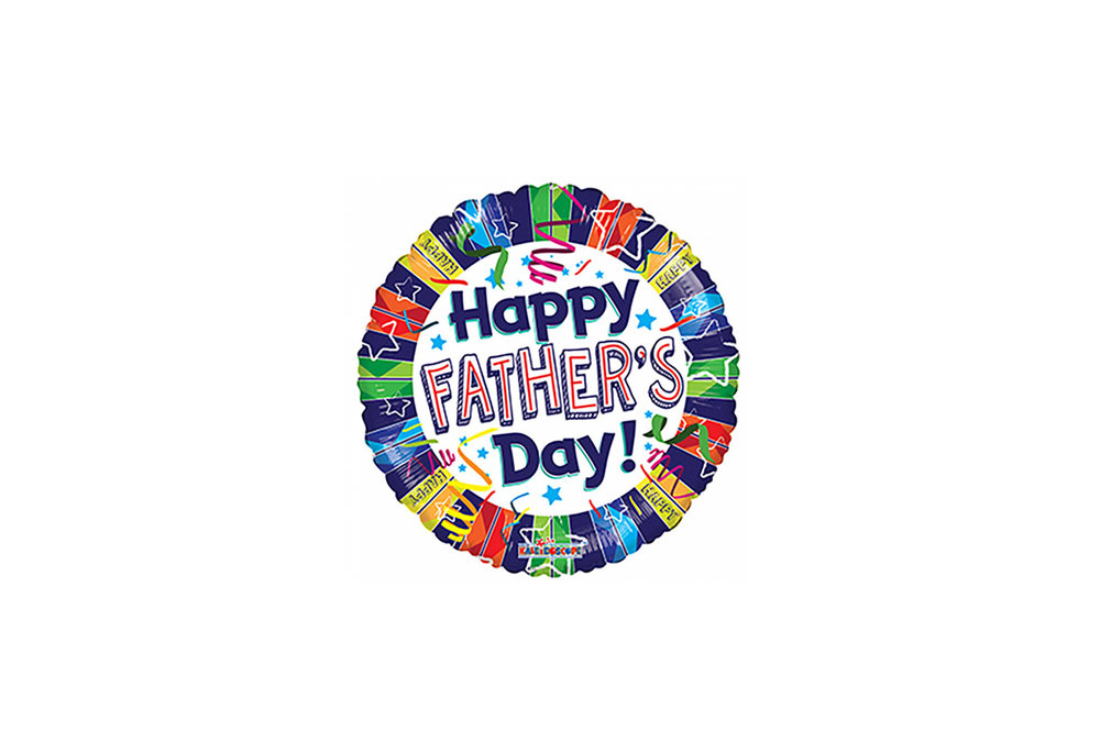 Folie ballon Happy Father's Day 46 cm doorsnee