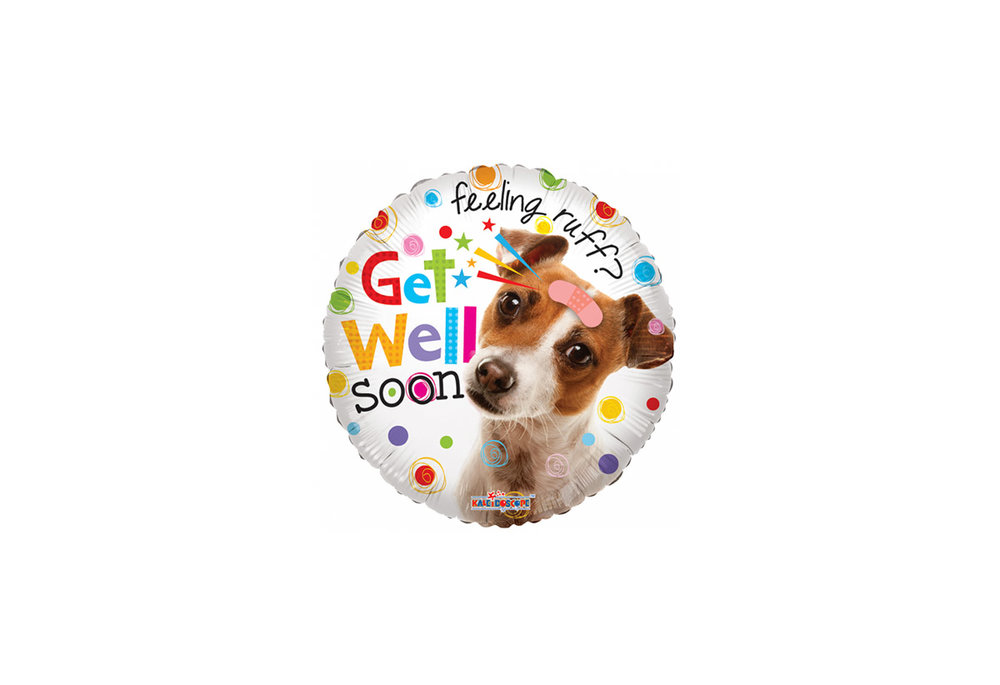 Folie ballon get well soon rond 46 cm