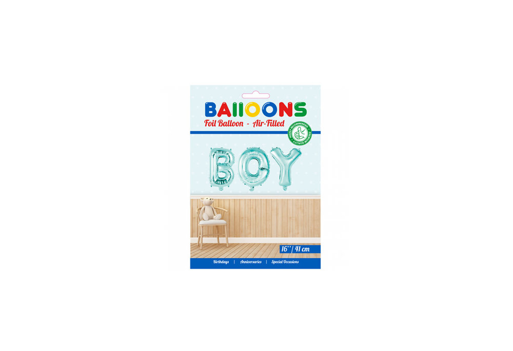 Folie ballon baby boy in letters