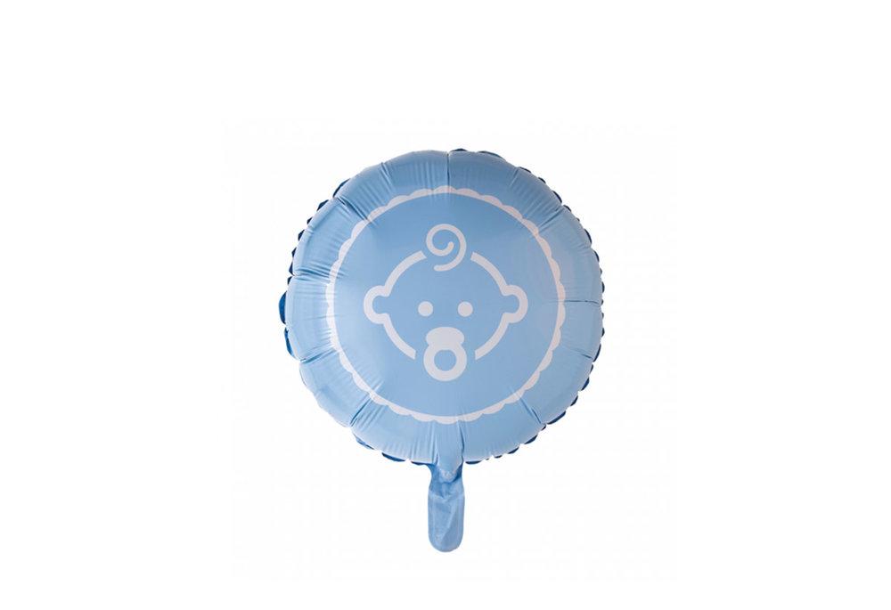 Grote ballon doorsnee 46 cm geboorte blauw