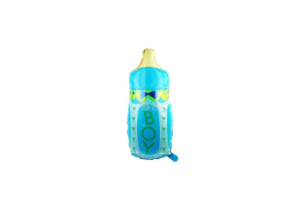 Grote XL blauwe fles its a boy ballon voor geboorte jongen 78 cm