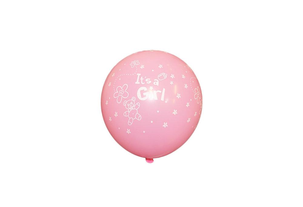 Its a girl roze latex ballon 30 cm hoge kwaliteit voor geboorte