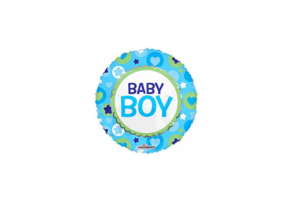 Ronde folie ballon baby boy