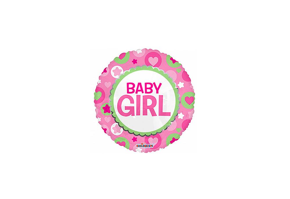 Ronde folie ballon baby girl