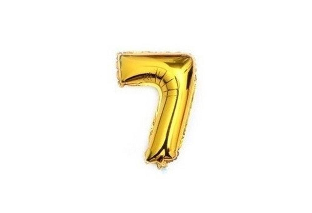 100 cm grote XL folie ballon van hoge kwaliteit nummer 7 goud