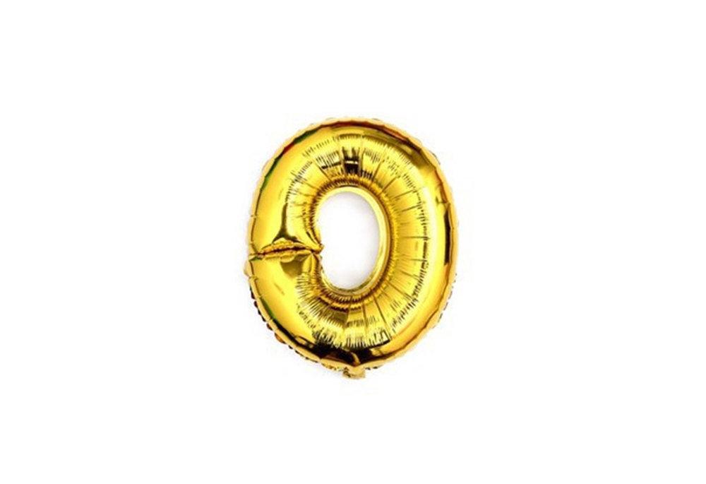 ballon - 41 cm - goud - cijferballon - cijfer 0