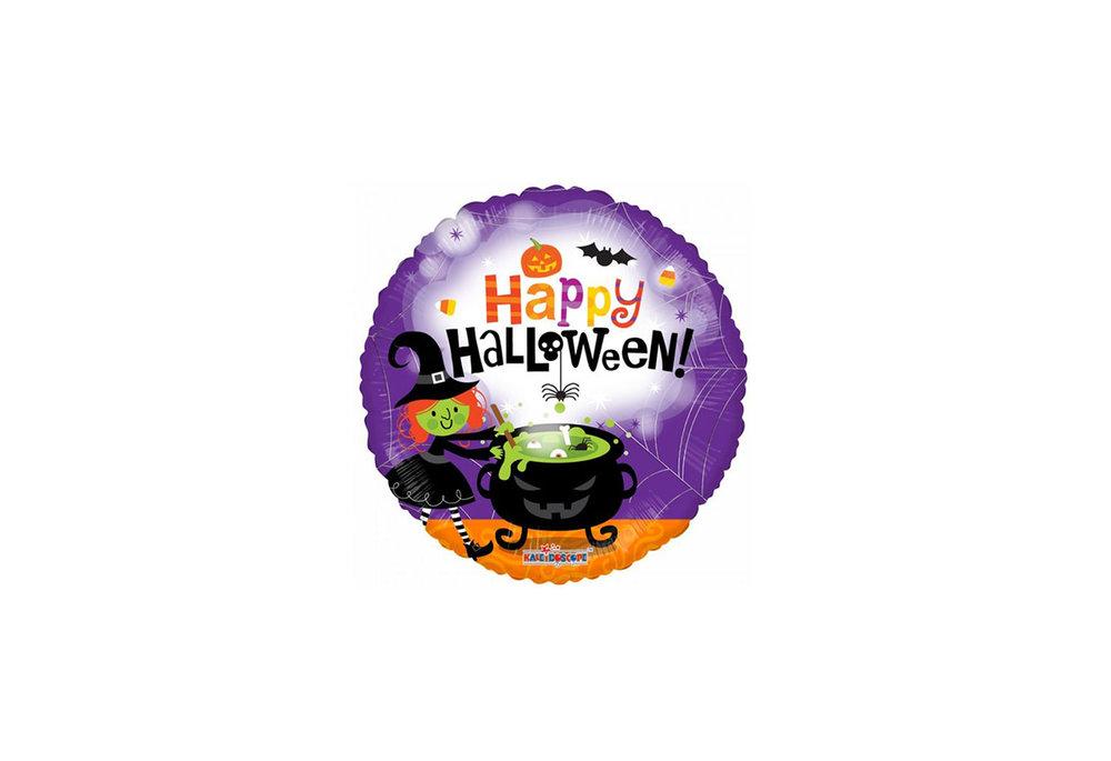Folie ballon Happy Halloween! ronde vorm 46 cm groot