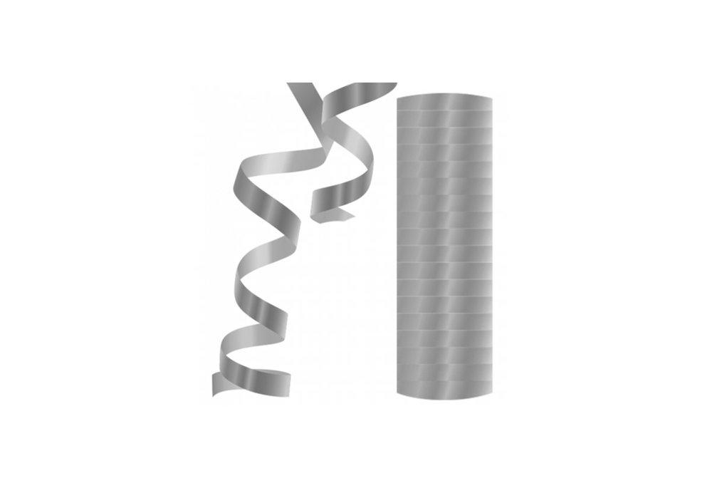 Serpentine 18x 4 meter metallic zilver