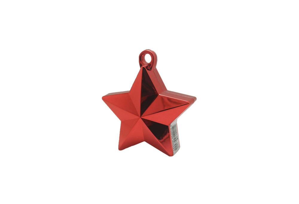 Ballon gewicht in de vorm van een ster metallic red