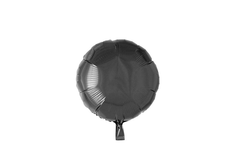 Grote ballon doorsnee 46 cm rond zwart leuk voor halloween
