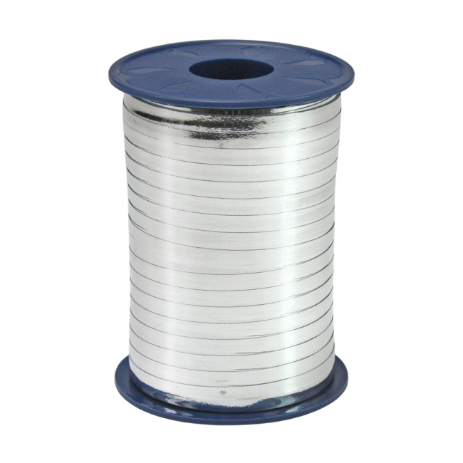 Ribbon 250m x 5mm Metallic - silver
