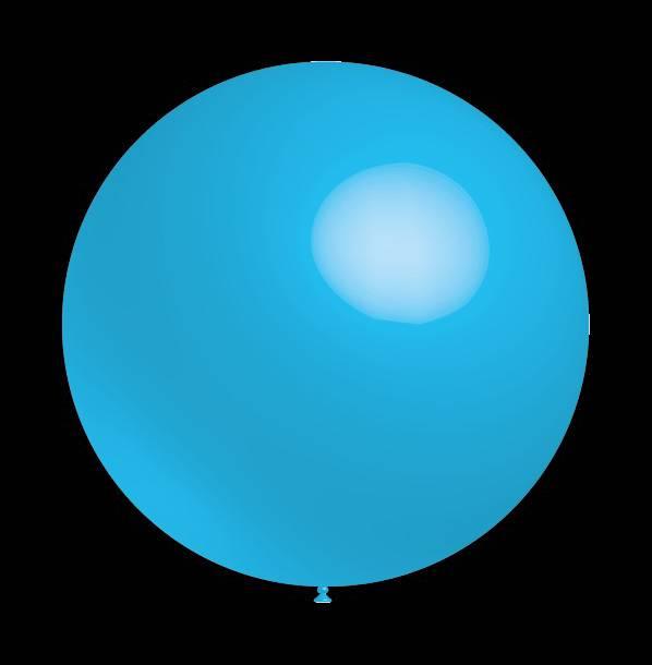 Decoratieballonnen baby blauw 30 cm